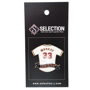MLB エディ・マレー クリーブランド・インディアンス Player Jersey Pin ピンバッチ ピンズ Peter&David