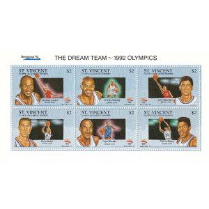 USA BB 男子バスケットボールアメリカ代表 1992 オリンピック ドリームチーム スタンプシート 切手シート