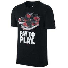 JORDAN Tシャツ Jordan レトロ 1 Bred Pay to Play T-Shirt ナイキ/Nike ブラック【OCSL】