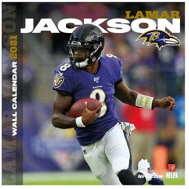 ラマー・ジャクソン カレンダー NFL レイブンズ 2021年版 プレーヤー 壁掛け ポスターインテリア Turner