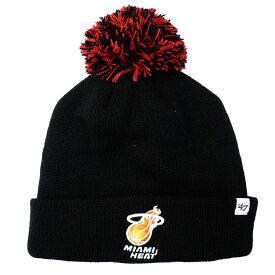 マイアミ・ヒート ニットキャップ ニット帽 NBA ポム カフ ビーニー 47 Brand ブラック