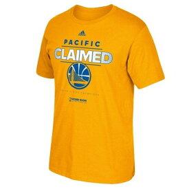 NBA Tシャツ ウォリアーズ ゴールド アディダス 2015 Pacific Division Champions Locker Room