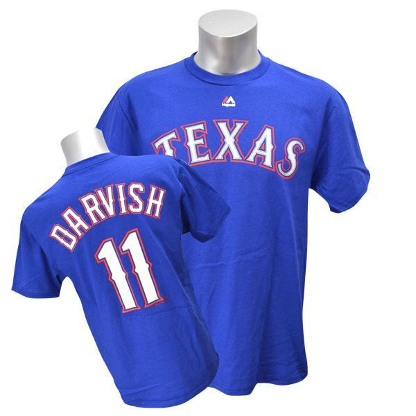 MLB レンジャーズ ダルビッシュ有 Tシャツ ブルー マジェスティック Player Tシャツ 特別セール 特別セール 特別セール 特別セール