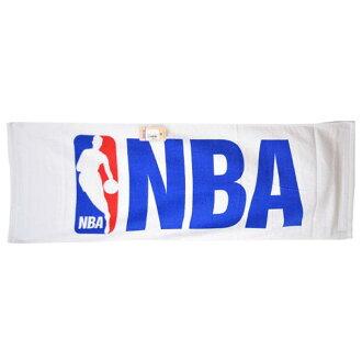 NBA logo man sports towel white