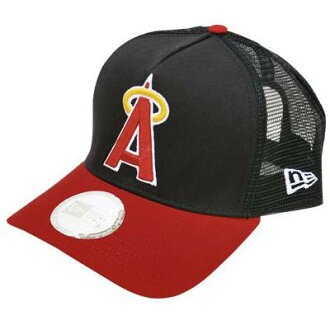 MLB Angels cap / hat 1972-92 new gills /New Era (Coopers Town Trucker Mesh Cap)