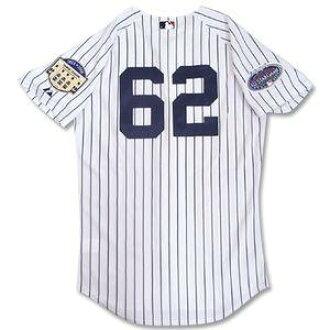 2008 (home) MLB Yankees #62 ジョバ Chamberlain Authentic Player uniform Stadium Final&All Star Majestic