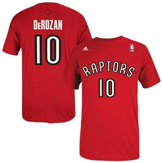 NBA raptors demar de Lausanne T Shirt red adidas NET NUMBER t-shirt