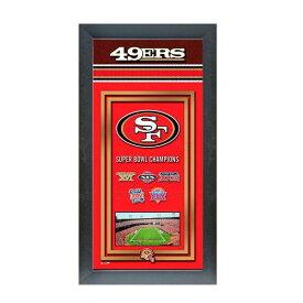お取り寄せ NFL 49ers フォト ファイル/Photo File Framed Championship Banner - 14.5 x 27.5【1910価格変更】