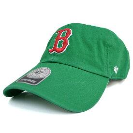 MLB レッドソックス キャップ/帽子 グリーン 47ブランド Cleanup Adjustable キャップ【0702価格変更)】