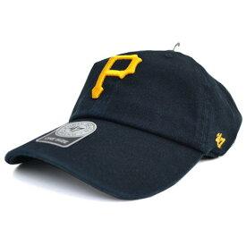 MLB パイレーツ キャップ/帽子 ブラック 47ブランド Cleanup Adjustable キャップ【0702価格変更)】