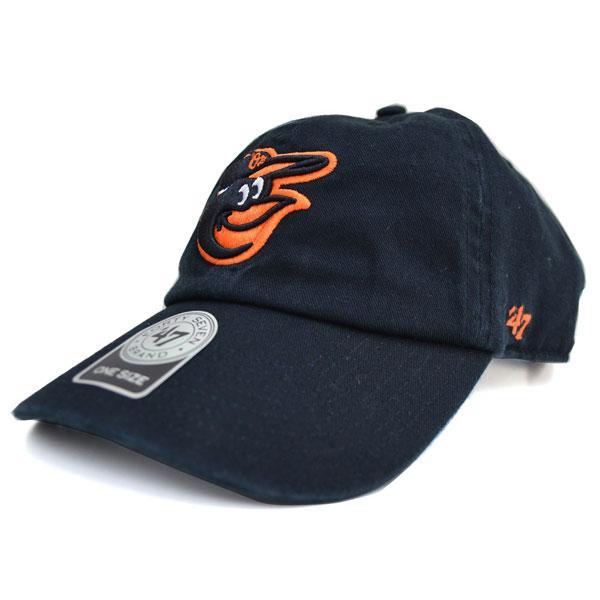 MLB オリオールズ キャップ/帽子 ブラック 47ブランド Cleanup Adjustable キャップ【0702価格変更)】