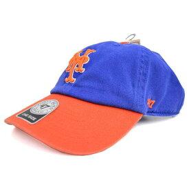 MLB メッツ キャップ/帽子 ロイヤル/オレンジ 47ブランド Cleanup Adjustable キャップ【0702価格変更)】