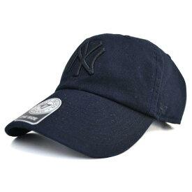 MLB ヤンキース キャップ/帽子 ブラック/ブラック 47ブランド Cleanup Adjustable キャップ【0702価格変更)】