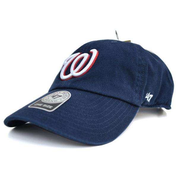 MLB ナショナルズ キャップ/帽子 ネイビー 47ブランド Cleanup Adjustable キャップ【0702価格変更)】