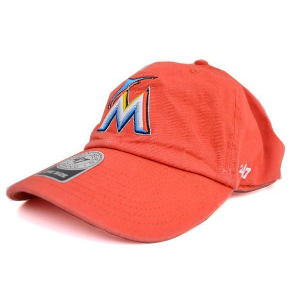 MLB マーリンズ キャップ/帽子 オレンジ 47ブランド Cleanup Adjustable キャップ【0702価格変更)】
