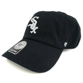 MLB ホワイトソックス キャップ/帽子 ブラック/ホワイト 47ブランド Cleanup Adjustable キャップ【0702価格変更)】