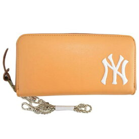 98d1395edda3 MLB メジャーリーグ ヤンキース 長財布 ウォレット Camel イーカム PUプレーン長財布