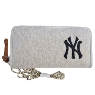 MLB Yankees long purse / wallet gray item /E-come (sweat Lund wallet)