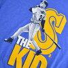 MLB Mariners Ken Griffey JR. T Shirt Blue Nike /Nike (TEE COOPERSTOWN PLAYER POSTER TRI-BLEND)