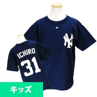 MLB Yankees Ichiro Kids T Shirt Navy majestic Youth Player T shirt JPN Ver