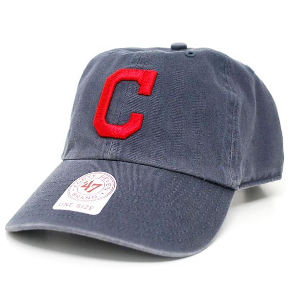MLB インディアンス キャップ/帽子 Alternate Road 47ブランド Cleanup Adjustable キャップ【0702価格変更)】