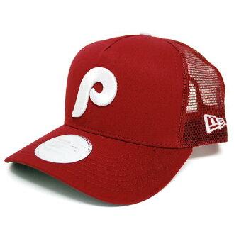MLB Phillies Cap / Hat new era Cooper's Town Trucker Mesh Cap