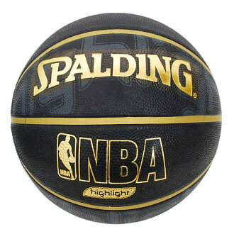 NBA GOLD HIGHLIGHT RUBBER球(7号球-黑色/黄金)SPALDING