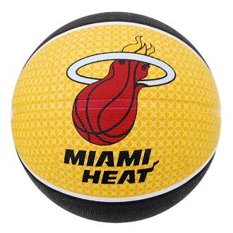 NBA heat basketball # 5 balls - Black / Yellow Spalding /spalデeing TEAM RUBBER BALL 2011