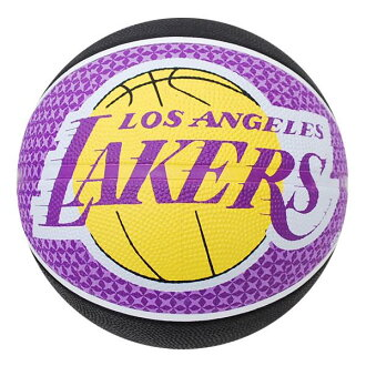 NBA Lakers basketball 7 balls - black / purple Spalding /SPALDING TEAM RUBBER BALL 2011