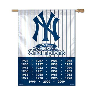 MLB Yankees flag win craft /WinCraft 27 Times Champions Vertical Flag 27x37 inch