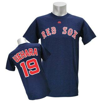 MLB Red Sox Uehara Koji T Shirt Navy majestic Player T shirt JPN Ver