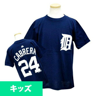MLB Tigers Miguel カブレラキッズ T-shirt navy majestic Player T-shirt Youth