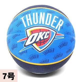 2013 (blue / navy -7 ball) NBA Oklahoma City sander TEAM RUBBER ball SPALDING