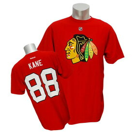 NHL ブラックホークス パトリック・ケイン Tシャツ レッド リーボック Name&Number Tシャツ