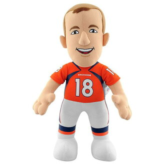 10-Inch Plush Doll including the NFL Broncos Payton Manning sewing
