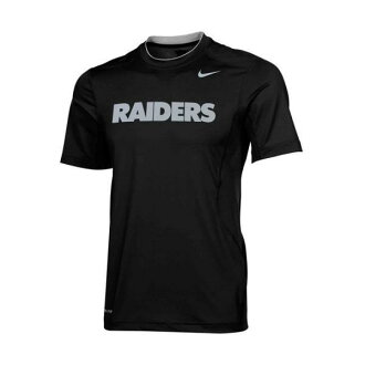 NFL Raiders T shirt black NIKE Dri-FIT Hypercool 2 Speed Performance T shirt