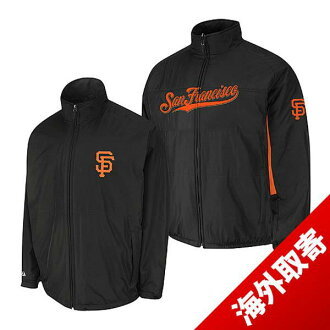 Majestic MLB San Francisco Giants Authentic Triple Climate-in-1 On-Field jacket (black)