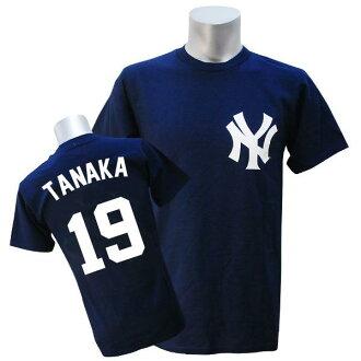 美國職棒大聯盟洋基隊歐文 Wilson T 襯衫海軍雄偉球員 T 恤 JPN Ver