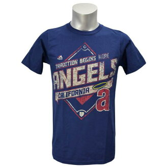 MLB Angels T Shirt Navy majestic /Majestic (Copperstown Game Obsessed T-Shirt)