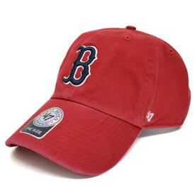 MLB レッドソックス キャップ/帽子 レッド 47ブランド Cleanup Adjustable キャップ【0702価格変更)】