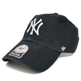 MLB ヤンキース キャップ/帽子 ブラック 47ブランド Cleanup Adjustable キャップ【0702価格変更)】