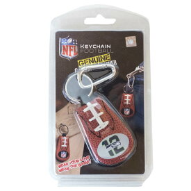 NFL グッズ シーホークス キーチェーン キーリング キーホルダー Genuine Leather Key Chain Game Gear