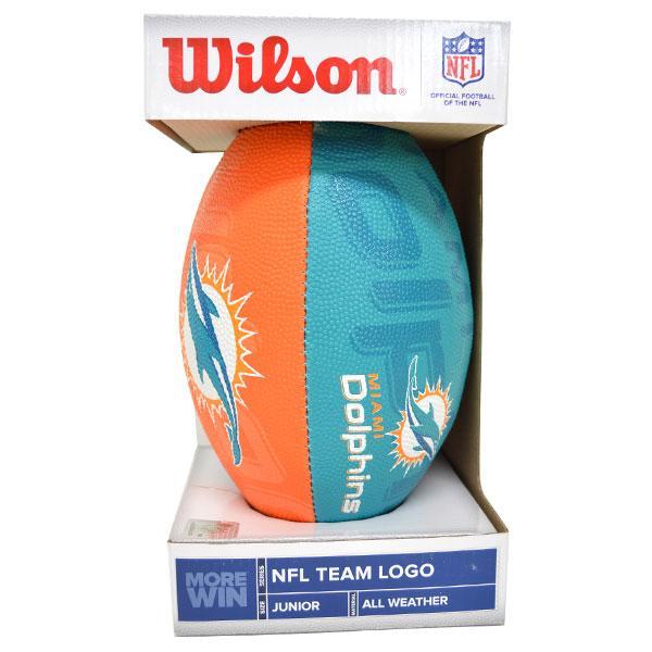 NFL ドルフィンズ ボール ウィルソン/Wilson Junior Super Grip Rubber Football