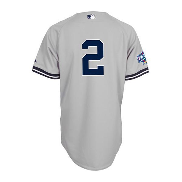 MLB ヤンキース デレク・ジーター ユニフォーム ロード マジェスティック Authentic ユニフォーム w/1999 World Series Patch