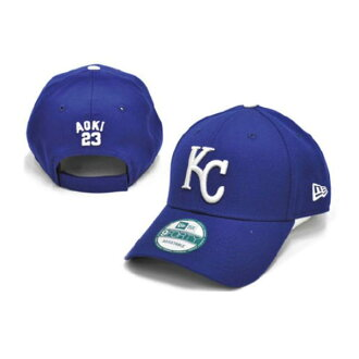 MLB Royals Norichika Aoki cap / hat blue new gills 940 Japanese Player cap