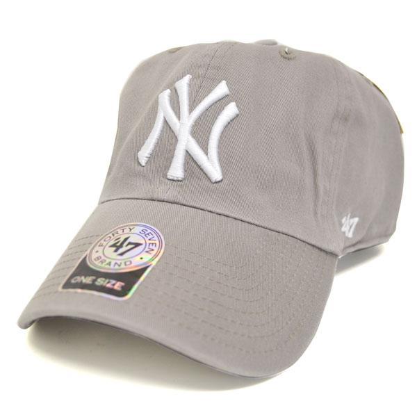 MLB ヤンキース キャップ/帽子 グレー 47ブランド Cleanup Adjustable キャップ【0702価格変更)】