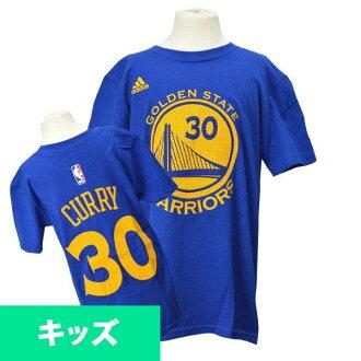 阿迪达斯 NBA 勇士 # 30 Stephen 咖喱青年游戏时间 t 恤 (蓝色)