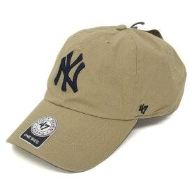 MLB ヤンキース キャップ/帽子 カーキ 47ブランド Cleanup Adjustable キャップ【0702価格変更)】