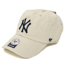 MLB ヤンキース キャップ/帽子 ナチュラル 47ブランド Cleanup Adjustable キャップ【0702価格変更)】