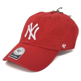 MLB ヤンキース キャップ/帽子 レッド 47ブランド Cleanup Adjustable キャップ【0702価格変更)】